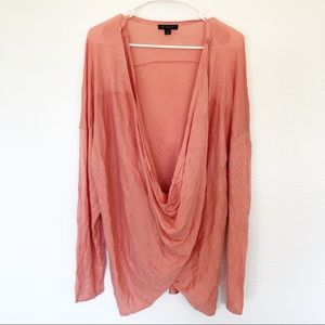 H by Halston | Long Sleeve Crossover Cardigan Top